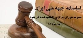 اساسنامه جبهه ملی ایران